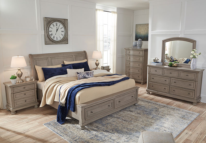 Details about NEW Country Cottage Gray Solid Wood Furniture - 5pcs King  Size Bedroom Set IA0Q