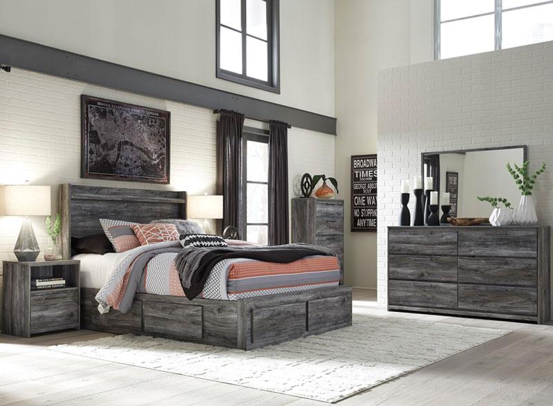 Ambrose Gris 5 un. Conjunto de muebles de dormitorio moderno con ...