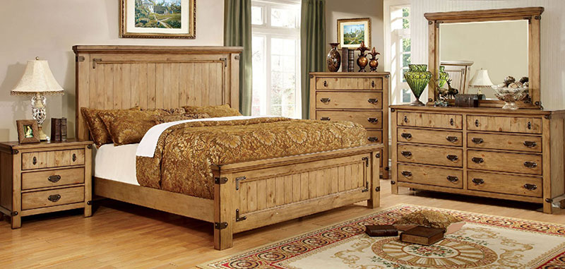 Cottage Style Light Brown Oak 5 Piece, Cottage Style Bedroom Furniture