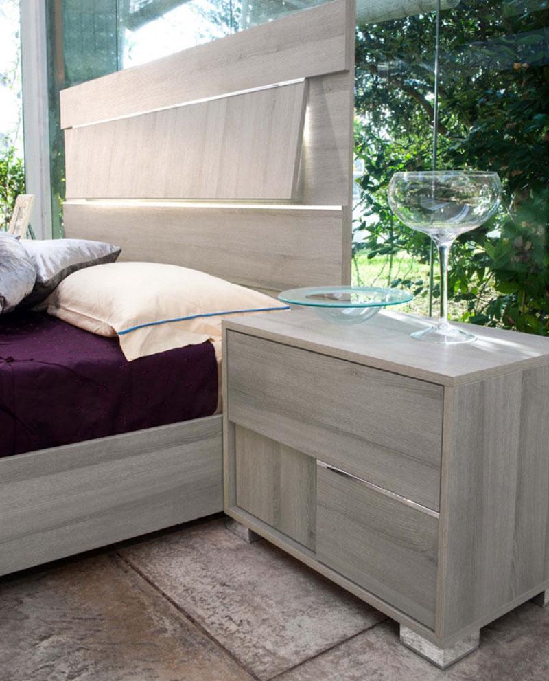 Modern Platform Bedroom Sets Soft Bedroom Lighting Black And Red Bedroom Interior Design Bedroom Furniture Ideas 2016: CANTANA 5 Piece Italian Contemporary Gray Bedroom Group W