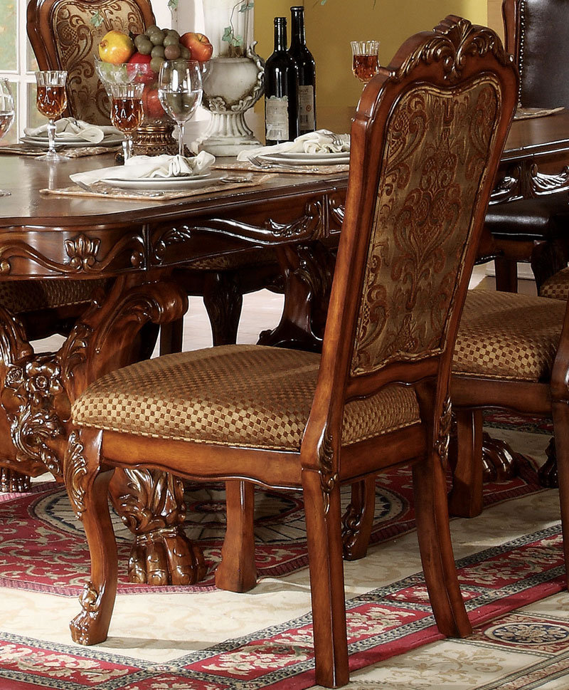 9 Piece Dining Room Table Sets: Traditional Brown Finish Dining Room Set 9 Pieces Rectangular Table Chairs IACI