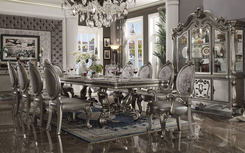 Bon PALAZZO   11pcs OLD WORLD DINING SET TABLE, 2 ARM CHAIRS U0026 8 SIDE CHAIRS
