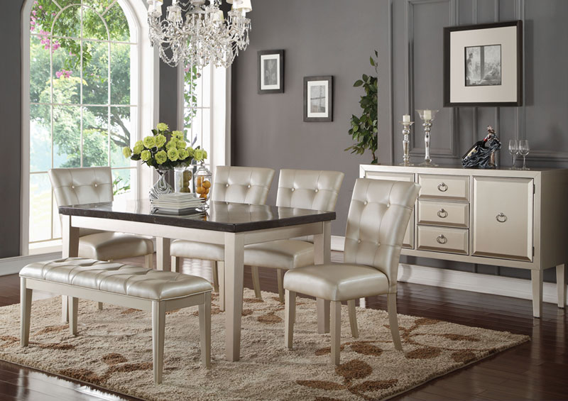 Super Details About New Milton 6 Piece Dining Room Rectangular Marble Table Beige Chairs Bench Set Creativecarmelina Interior Chair Design Creativecarmelinacom