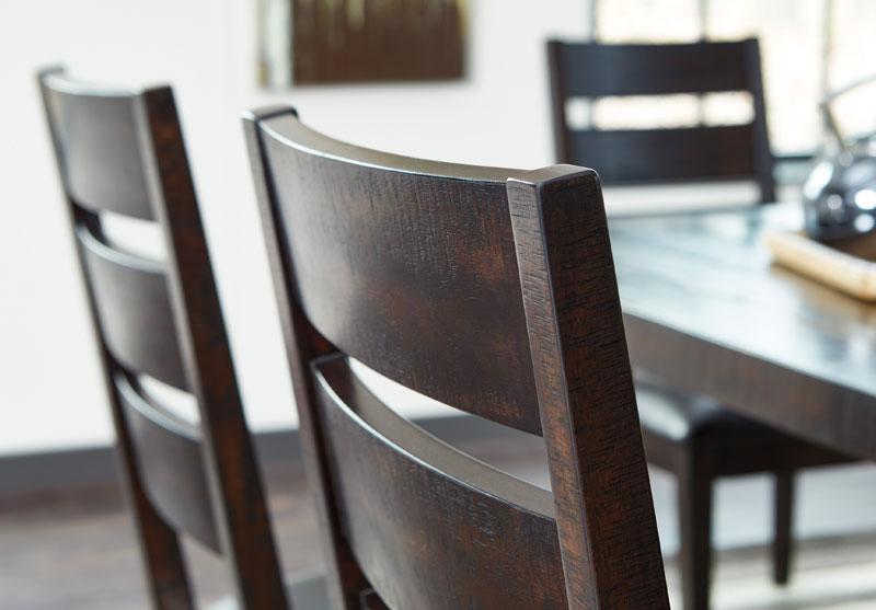 Kendall 7 Piece Modern Brown Dining Room Rectangular Metal