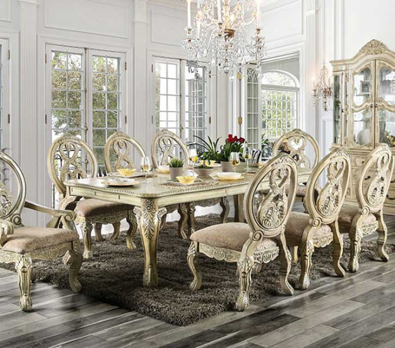 Super Details About Traditional Antique White Dining Room 9 Piece Pedestal Table And Chairs Set Icc8 Beatyapartments Chair Design Images Beatyapartmentscom