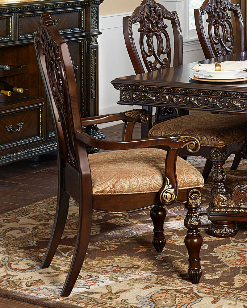 Old World European Dining Room 9 Piece Brown Rectangular
