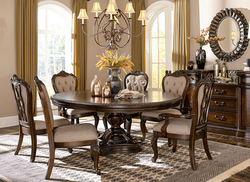 Wondrous Details About Florence 7 Piece Old World Brown Wood Formal Dining Room Oval Table Chairs Set Theyellowbook Wood Chair Design Ideas Theyellowbookinfo