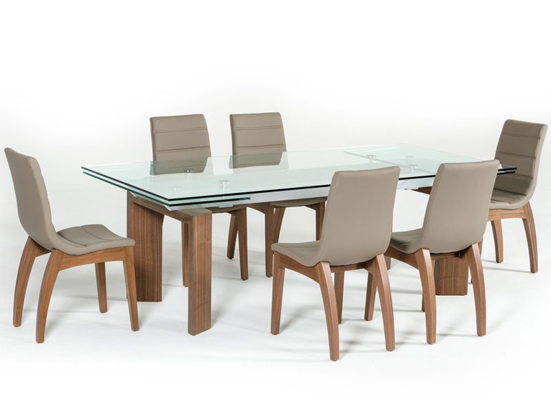 Fine Details About New Modern Style Dining Room 7 Piece Rectangular Glass Table Chairs Set Icv8 Alphanode Cool Chair Designs And Ideas Alphanodeonline