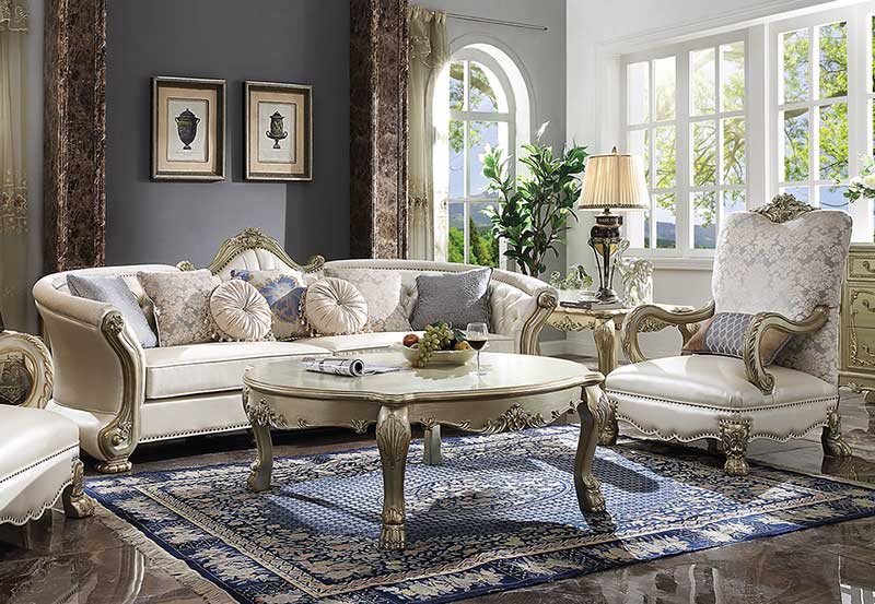 Bijou Traditional Living Room Couch Set New Brown