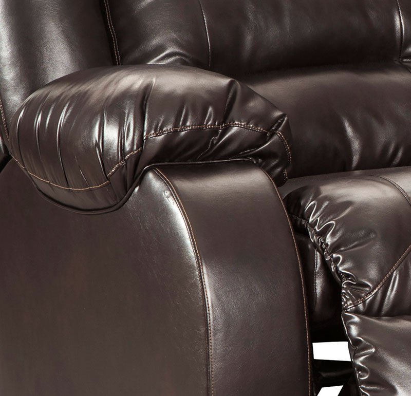 Charles Modern Sectional Living Room Couch Set Brown Faux