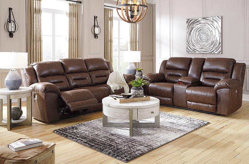 Details About New Modern Living Room Furniture Brown Faux Leather Reclining Sofa Couch Set F1s