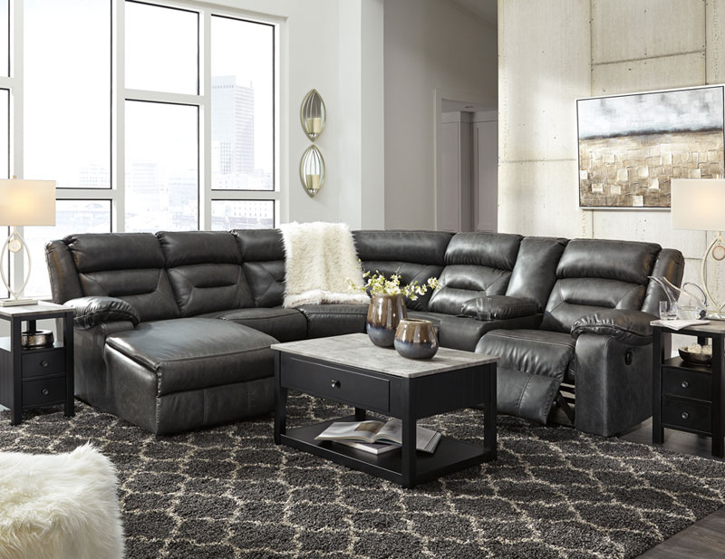 Enjoyable Details About Living Room 6 Piece Sectional Gray Faux Leather Reclining Sofa Chaise Set If2G Machost Co Dining Chair Design Ideas Machostcouk