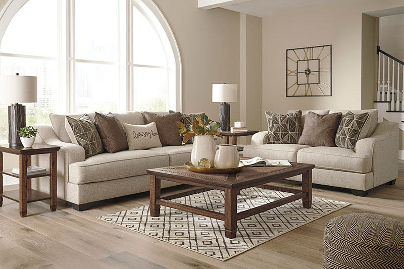 Details about NEW Modern Beige Chenille Fabric Living Room 2 piece Sofa &  Loveseat Set IG16