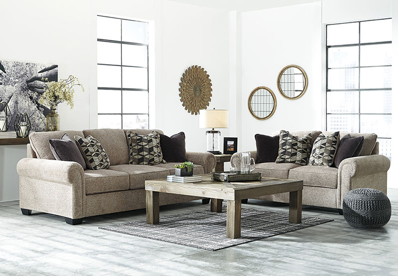 Details about Modern Living Room Furniture - 2 piece Light Brown Chenille  Sofa Couch Set IG3W