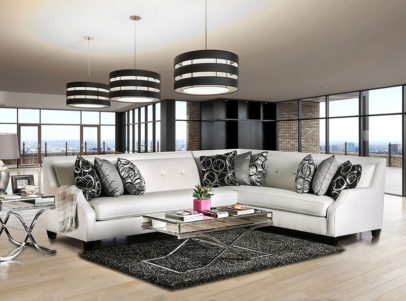 Groovy Details About New Living Room Sectional Modern Furniture Off White Fabric Sofa Couch Set Ca3 Ibusinesslaw Wood Chair Design Ideas Ibusinesslaworg