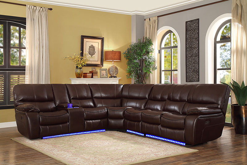 Fabulous Details About Modern Living Room Sectional Brown Faux Leather Power Reclining Sofa Set If67 Pdpeps Interior Chair Design Pdpepsorg