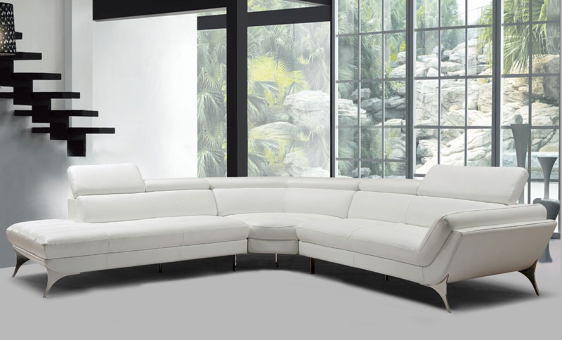 Stupendous Details About New Living Room Furniture White Italian Leather Sectional Sofa Chaise Set Igvr Home Interior And Landscaping Thycampuscom