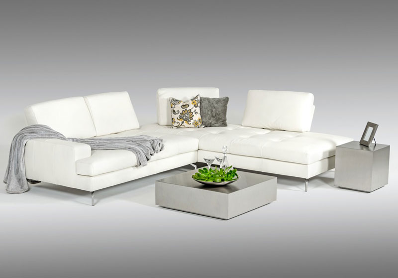 Peachy Details About New Italian Living Room Furniture White Leather Sectional Sofa Chaise Set Igvz Andrewgaddart Wooden Chair Designs For Living Room Andrewgaddartcom