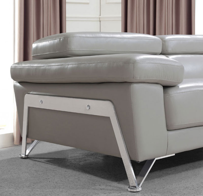 Details zu Modern 3 pieces Living Room Couch Set NEW Gray Leather Sofa  Loveseat Chair IRW0