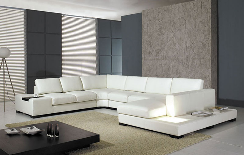 Bonded Leather Large Sectional