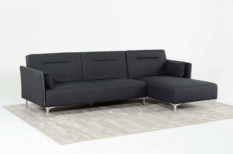 NEW KERRY Modern Living Room Furniture Gray Fabric Sectional Sofa ...